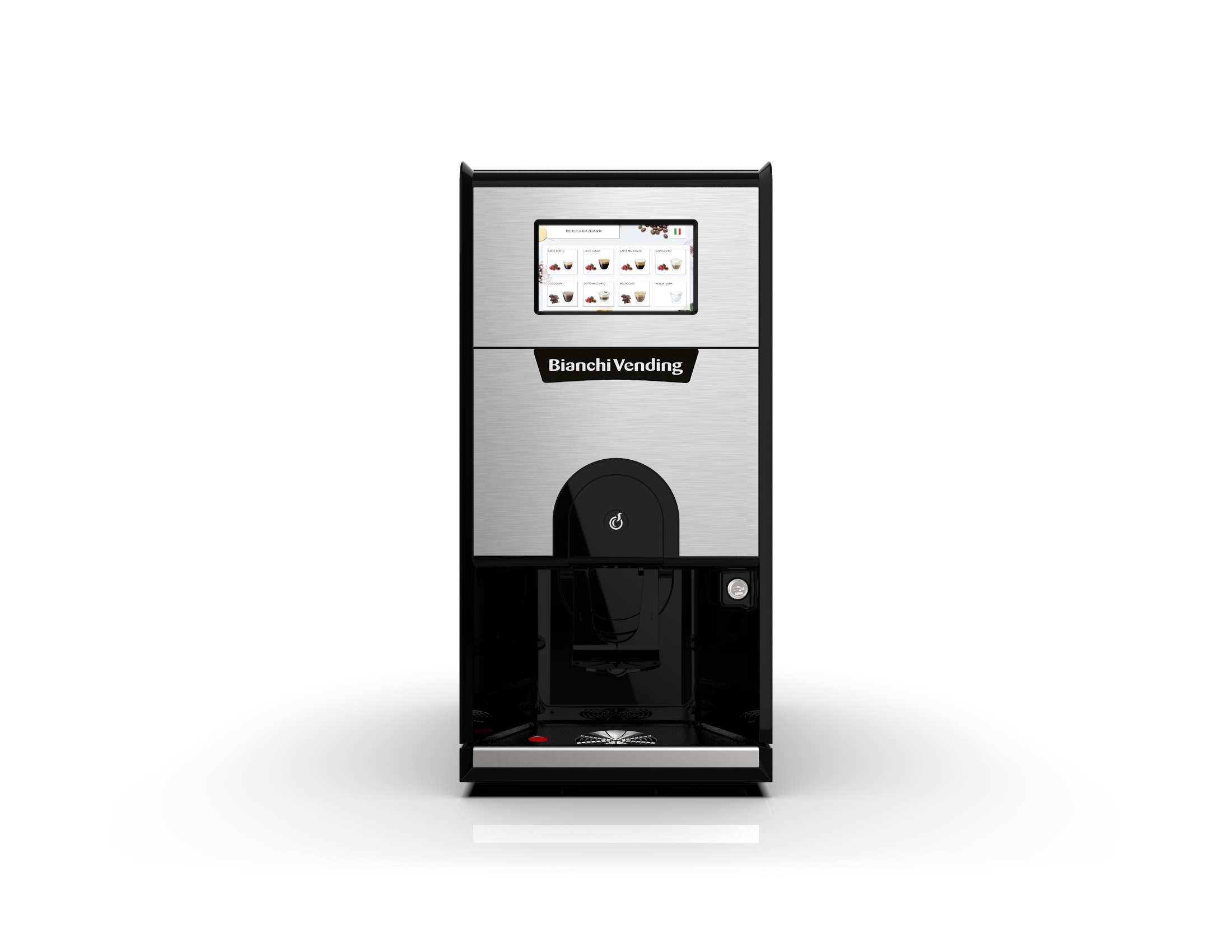 Small footprint coffee machine